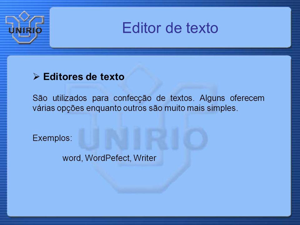 Editor de texto Editores de texto