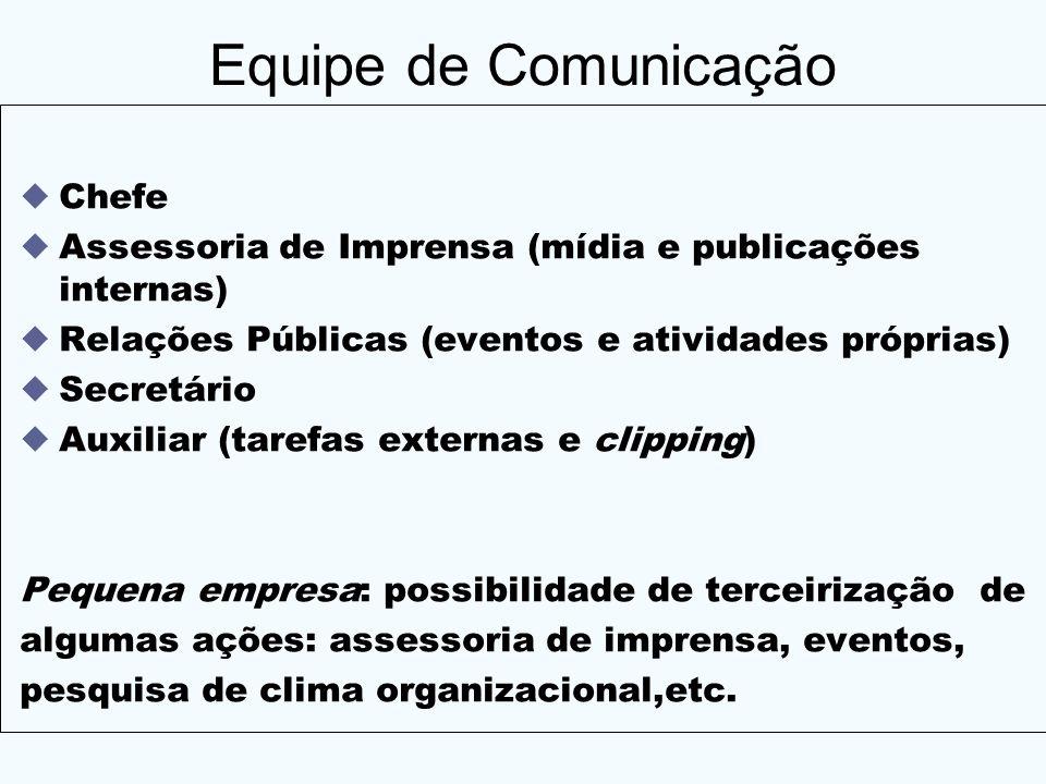 Equipe de Comunicação Chefe