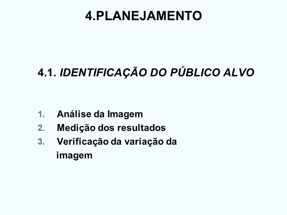 4.PLANEJAMENTO 4.1. IDENTIFICAÇÃO DO PÚBLICO ALVO Análise da Imagem