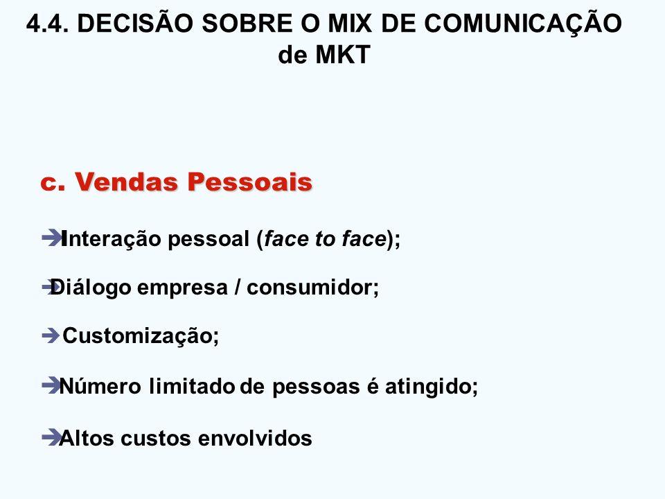 4. 4. DECISÃO SOBRE O MIX DE COMUNICAÇÃO 4. 4