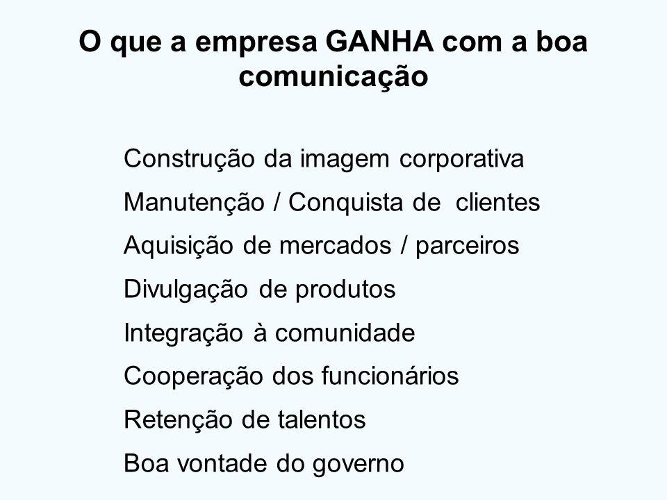 O que a empresa GANHA com a boa comunicação