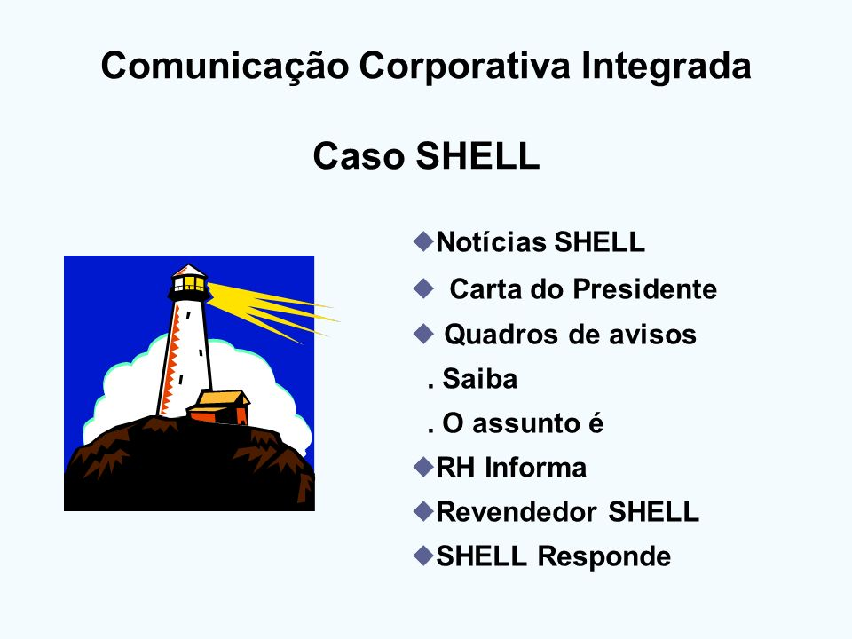 Comunicação Corporativa Integrada Caso SHELL