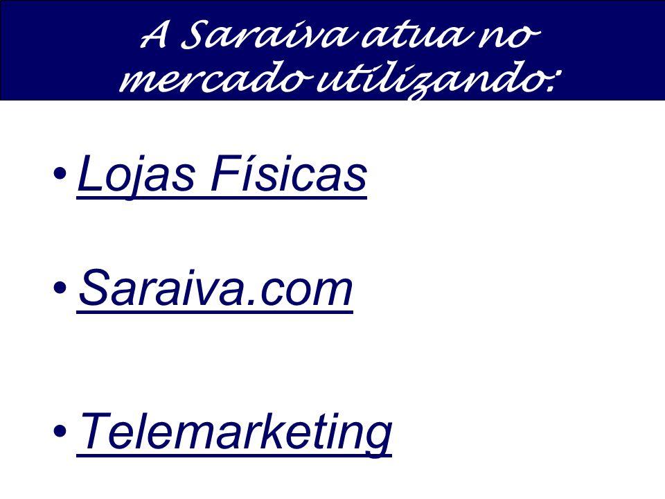 A Saraiva atua no mercado utilizando:
