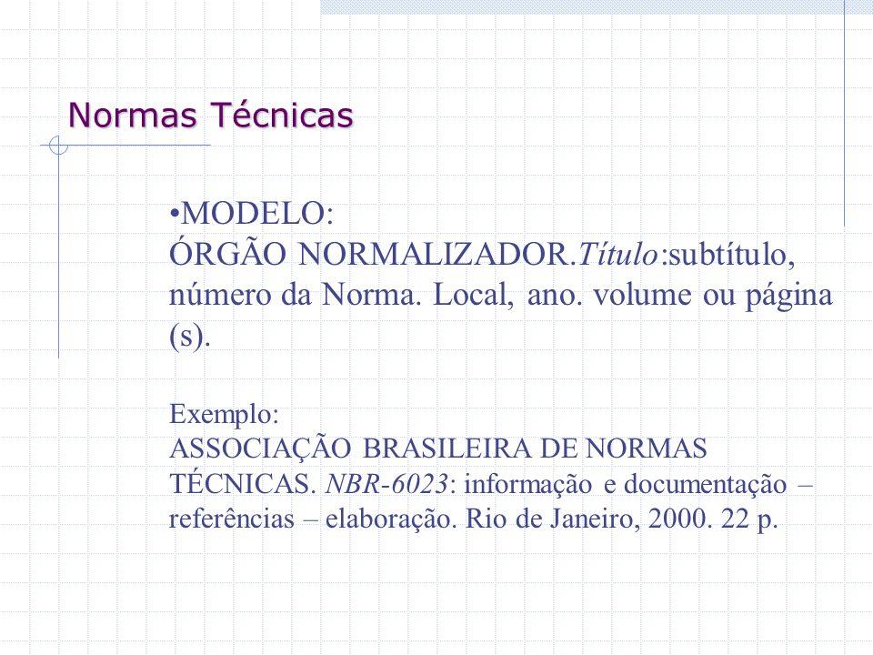 Normas Técnicas MODELO: