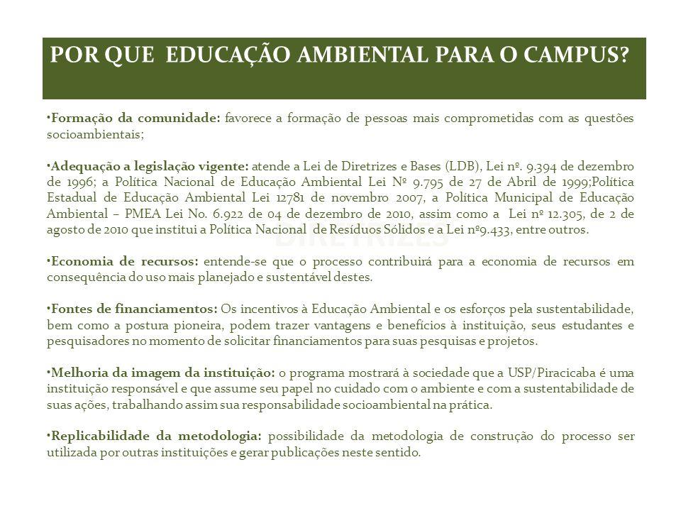 DIRETRIZES POR QUE EDUCAÇÃO AMBIENTAL PARA O CAMPUS