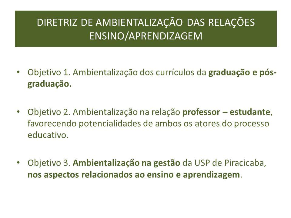 DIRETRIZ DE AMBIENTALIZAÇÃO DAS RELAÇÕES ENSINO/APRENDIZAGEM