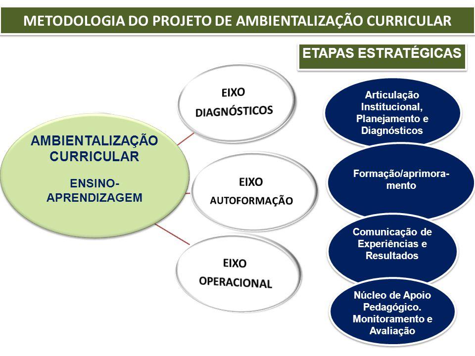 METODOLOGIA DO PROJETO DE AMBIENTALIZAÇÃO CURRICULAR