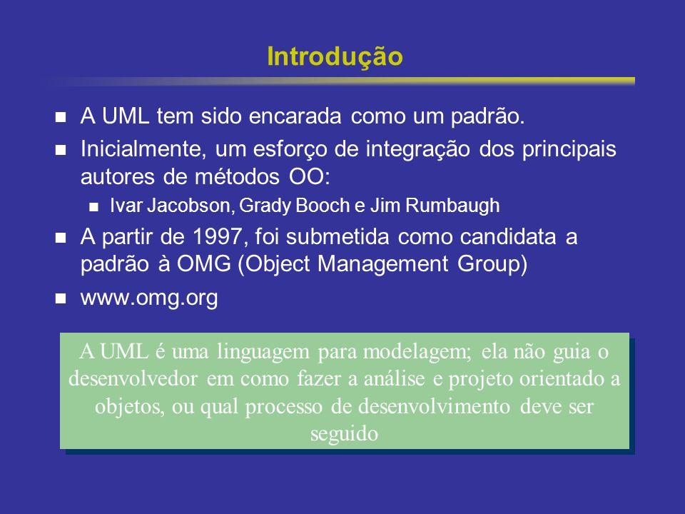 Introdução A UML tem sido encarada como um padrão.