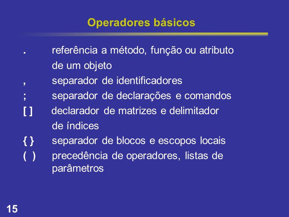 . referência a método, função ou atributo
