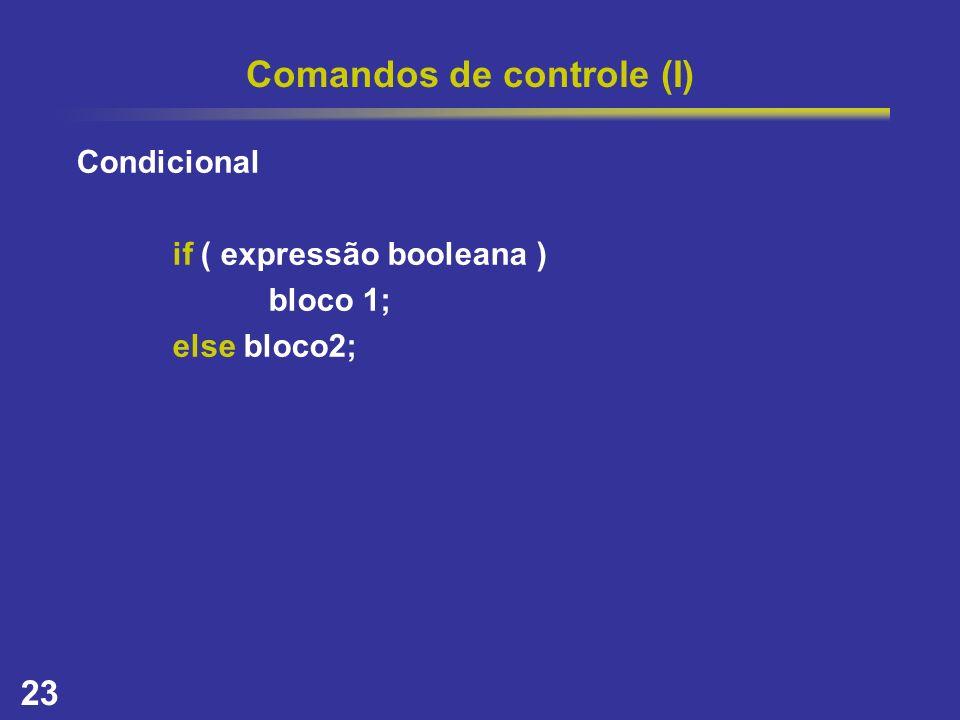Comandos de controle (I)