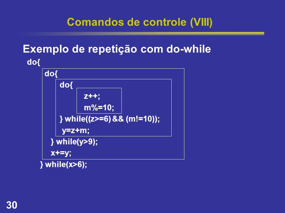 Comandos de controle (VIII)