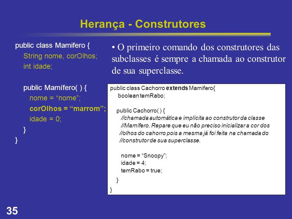 Herança - Construtores