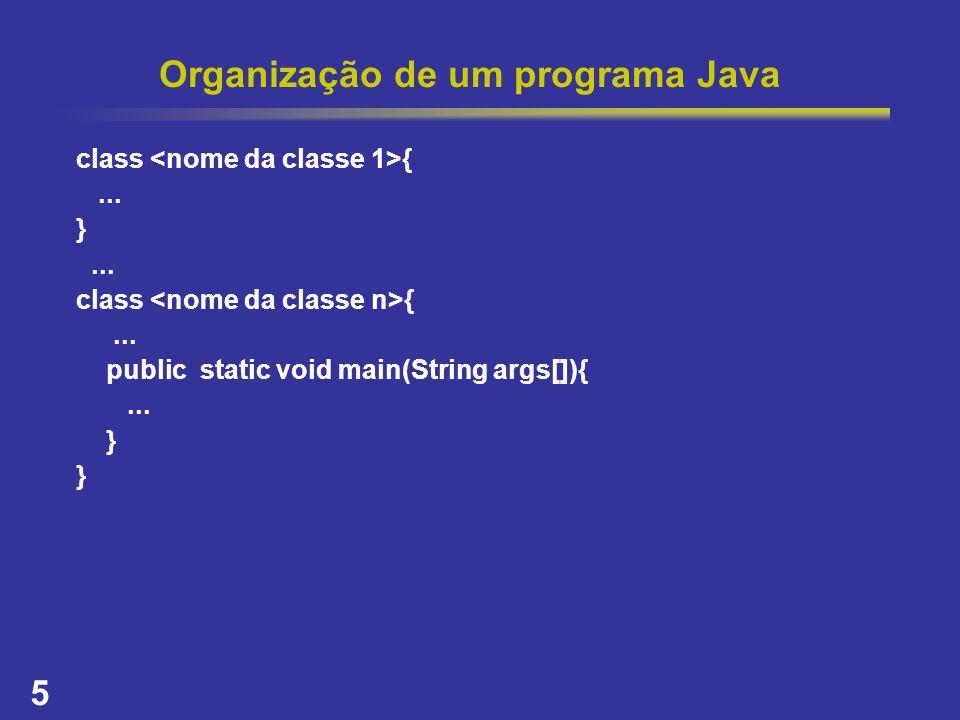 Organização de um programa Java