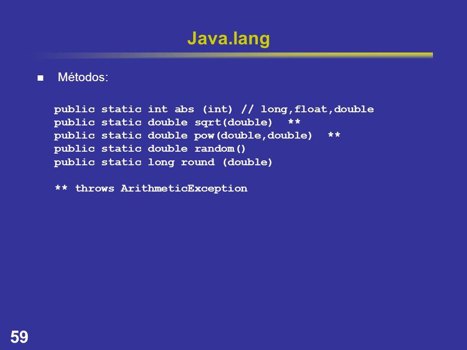 Java.lang