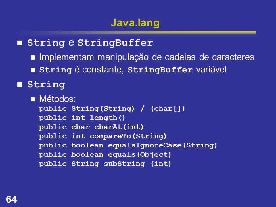 Java.lang String e StringBuffer String