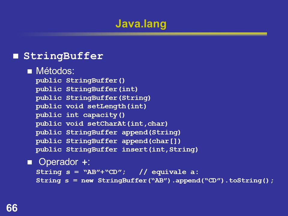 Java.lang StringBuffer