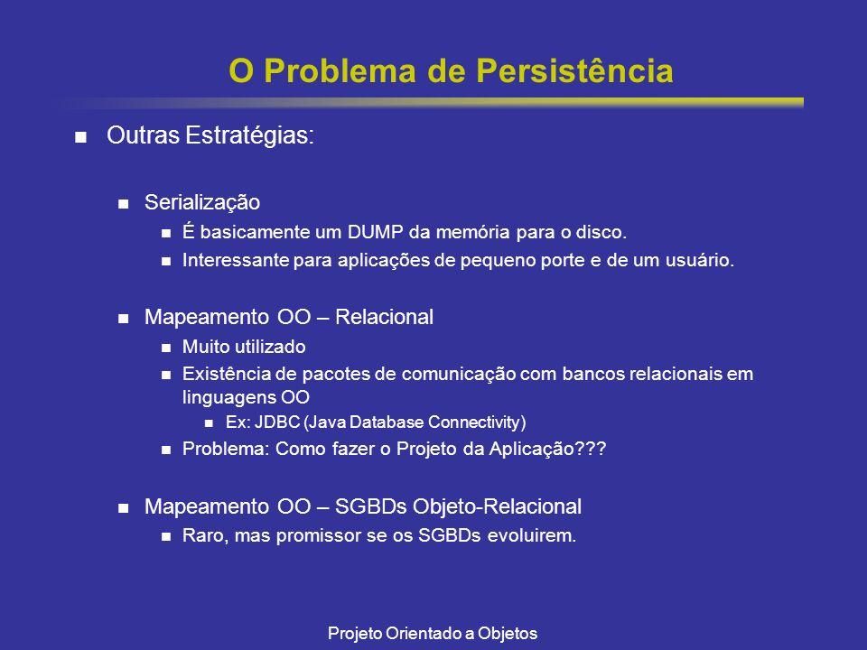 O Problema de Persistência