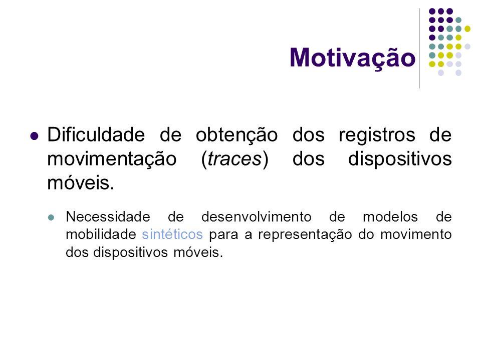 Motivação Dificuldade de obtenção dos registros de movimentação (traces) dos dispositivos móveis.