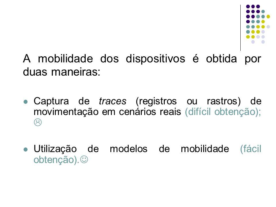 A mobilidade dos dispositivos é obtida por duas maneiras: