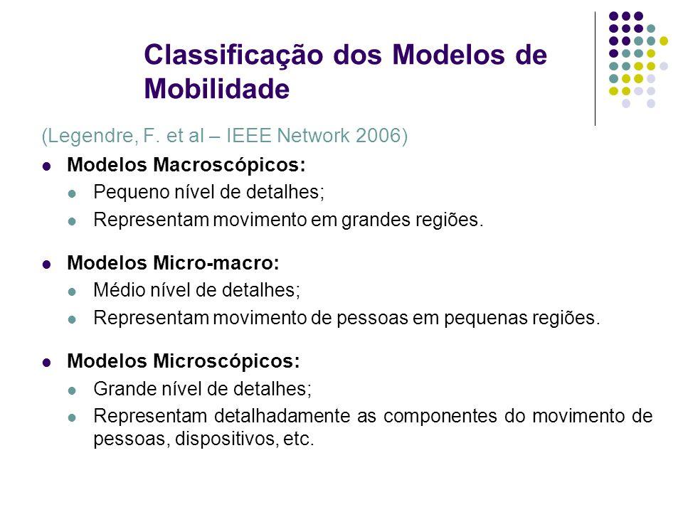 Classificação dos Modelos de Mobilidade