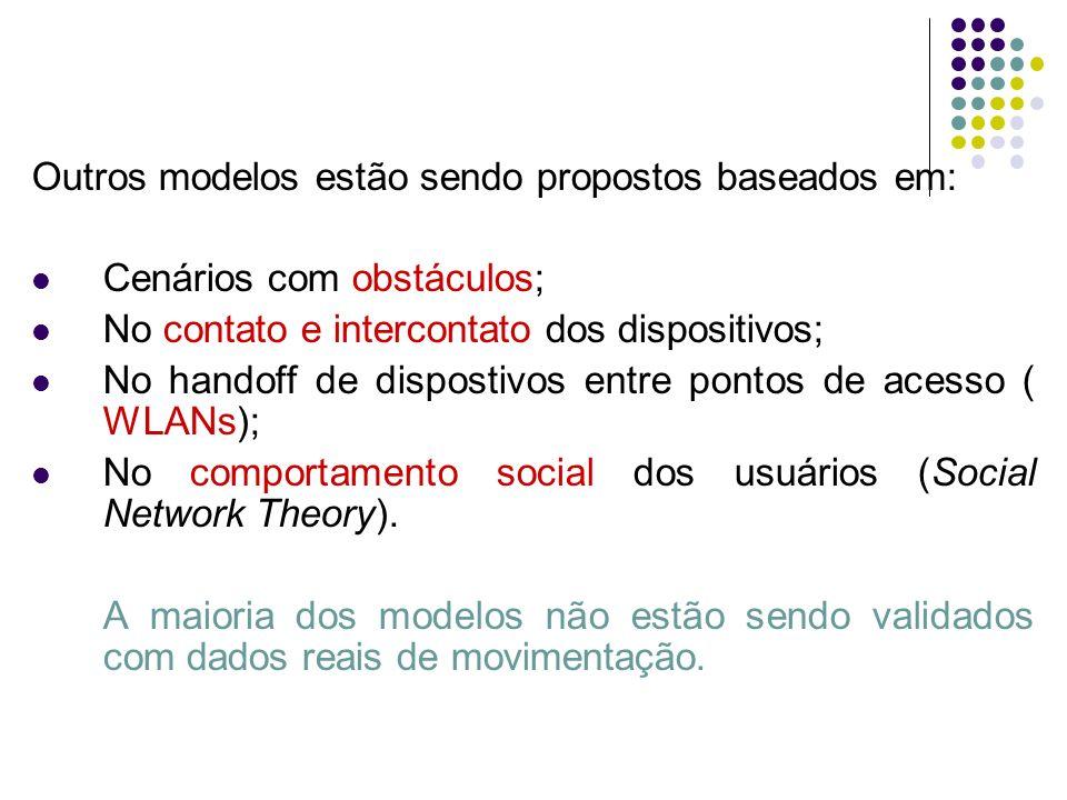 Outros modelos estão sendo propostos baseados em:
