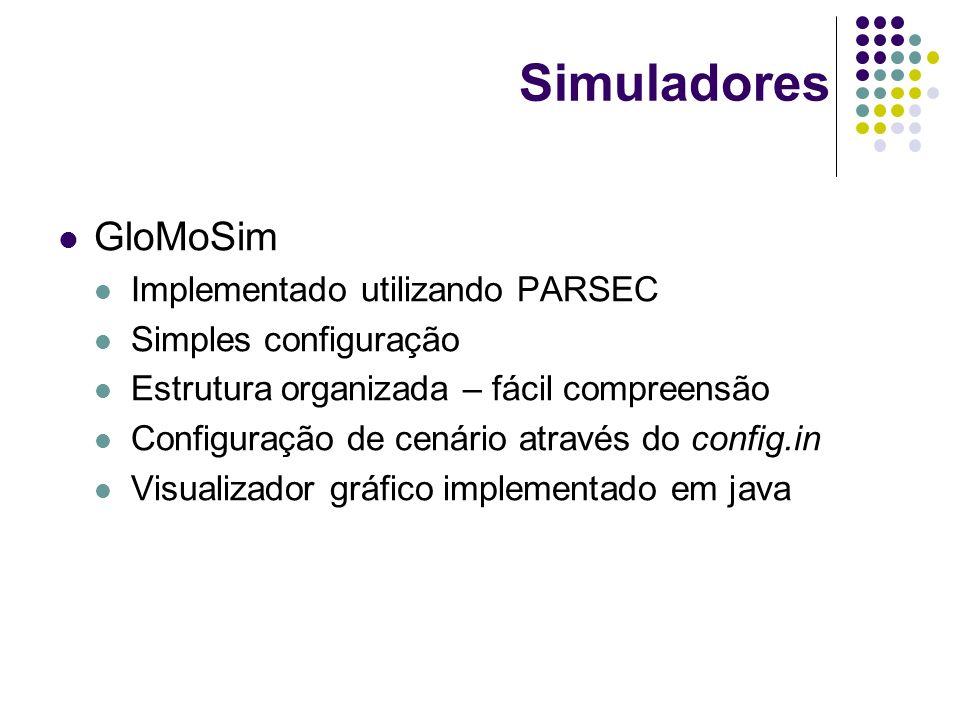 Simuladores GloMoSim Implementado utilizando PARSEC