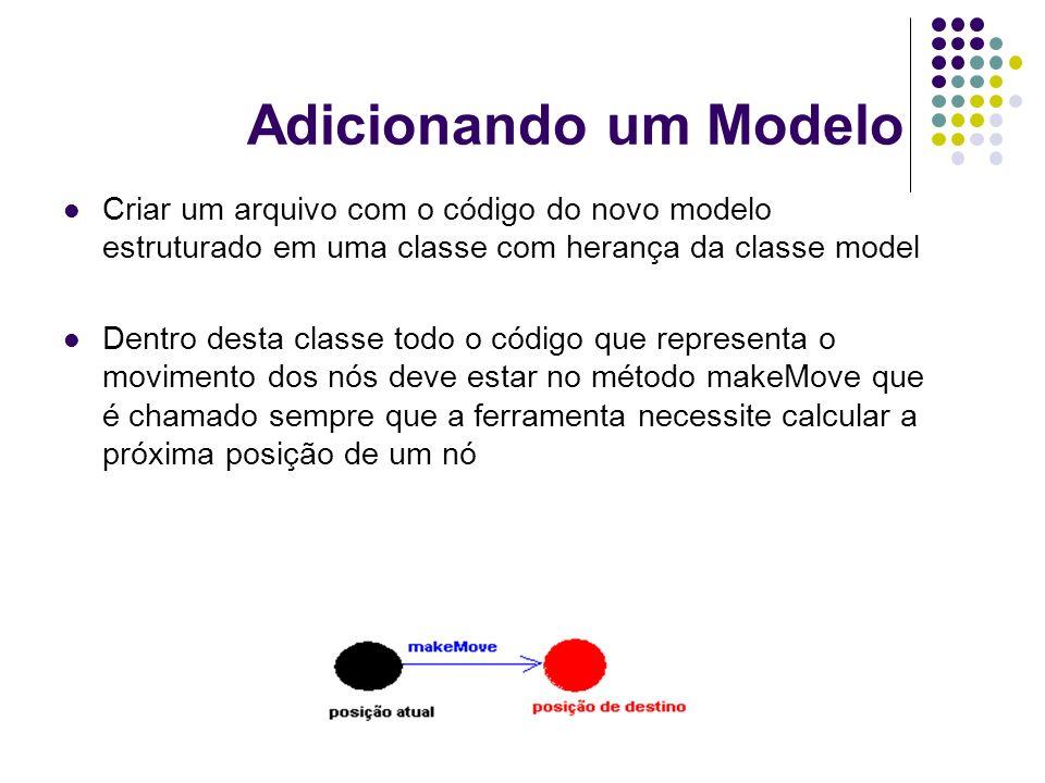 Adicionando um Modelo Criar um arquivo com o código do novo modelo estruturado em uma classe com herança da classe model.