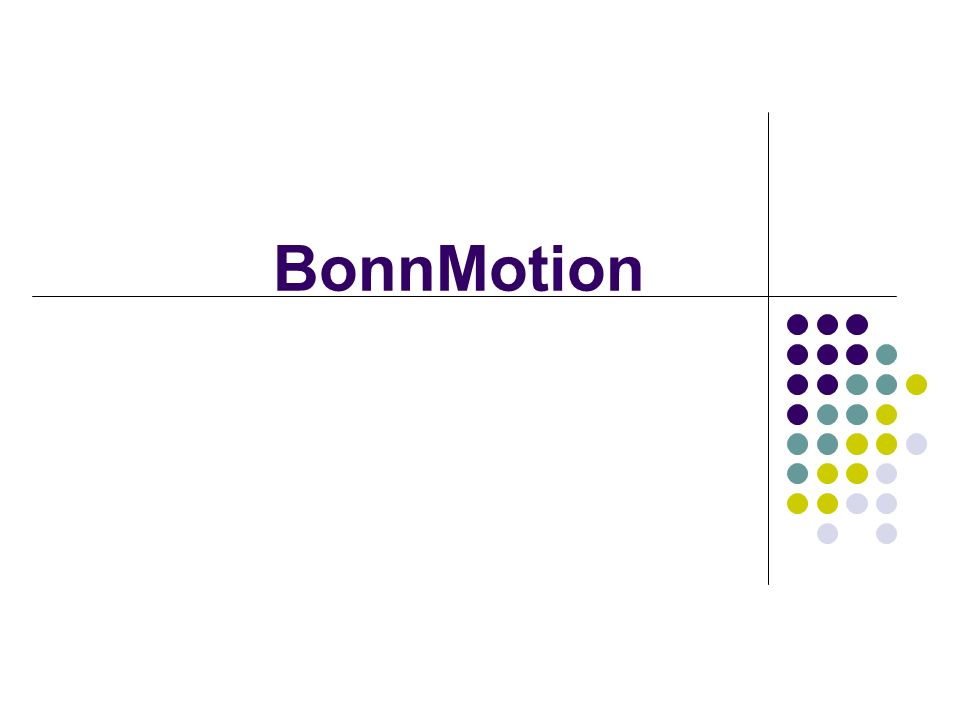 BonnMotion