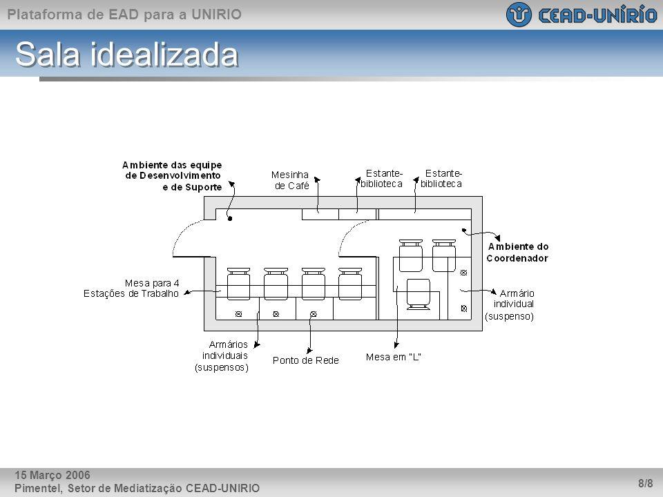 Sala idealizada 15 Março 2006 Pimentel, Setor de Mediatização CEAD-UNIRIO