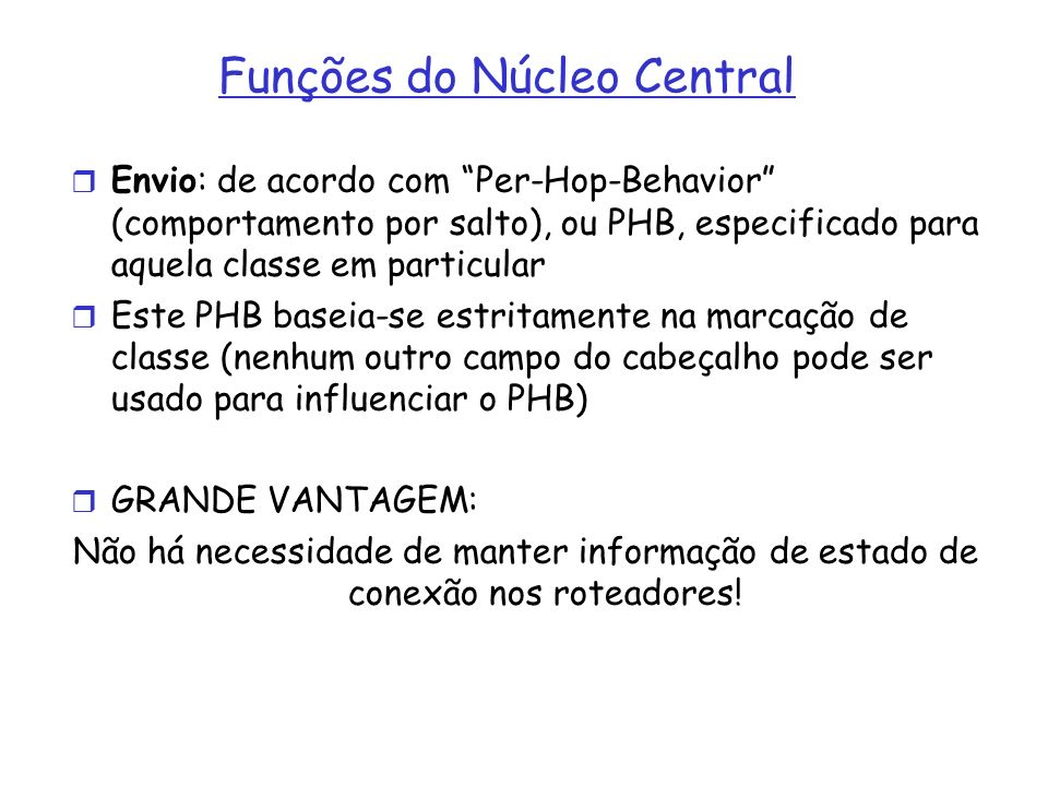 Funções do Núcleo Central