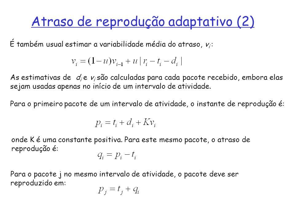 Atraso de reprodução adaptativo (2)