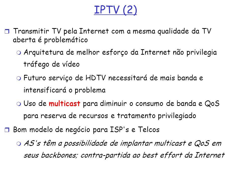 IPTV (2) Transmitir TV pela Internet com a mesma qualidade da TV aberta é problemático.