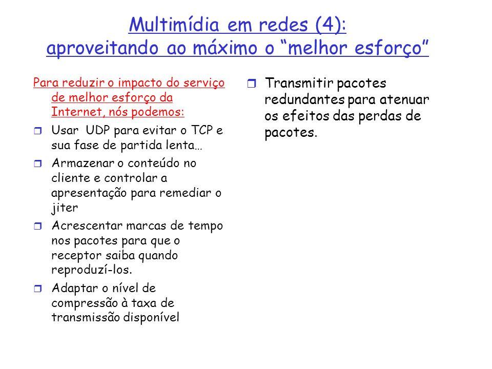 Multimídia em redes (4): aproveitando ao máximo o melhor esforço