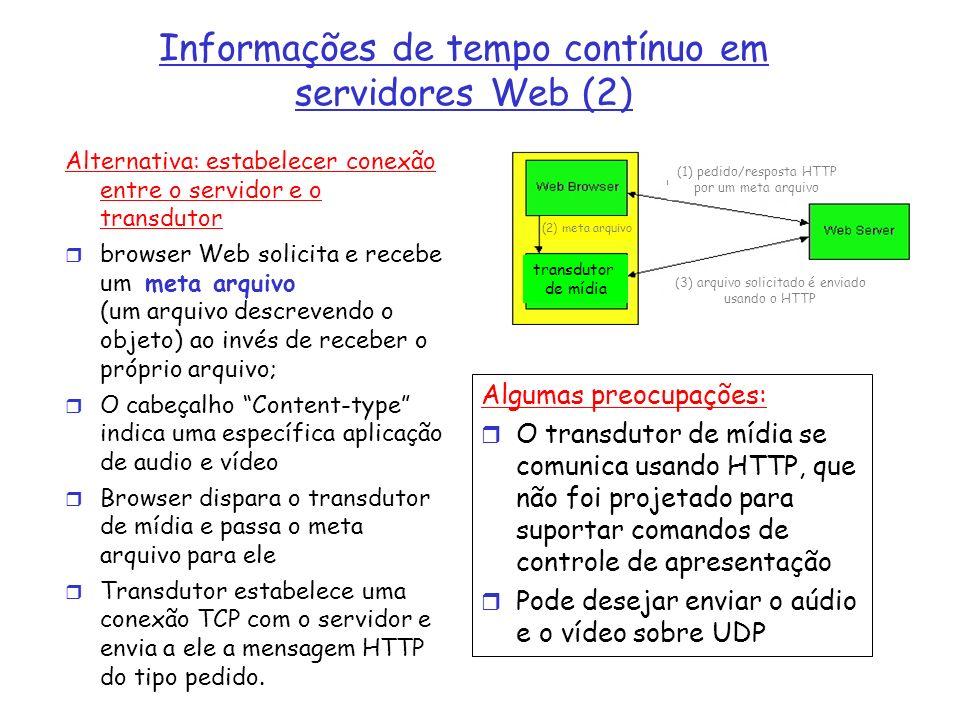 Informações de tempo contínuo em servidores Web (2)