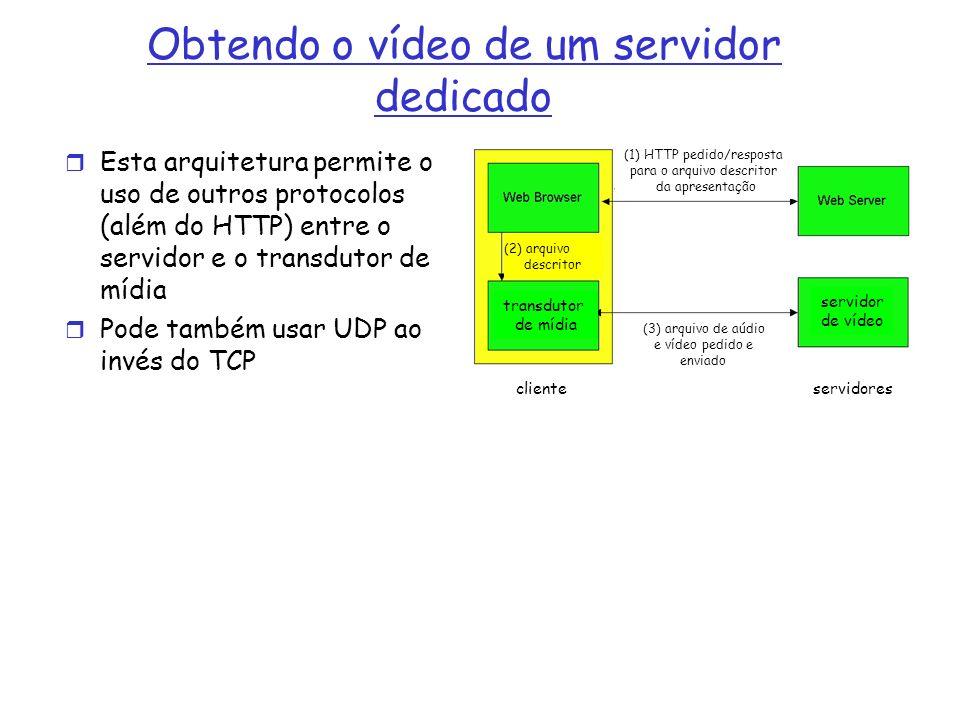 Obtendo o vídeo de um servidor dedicado