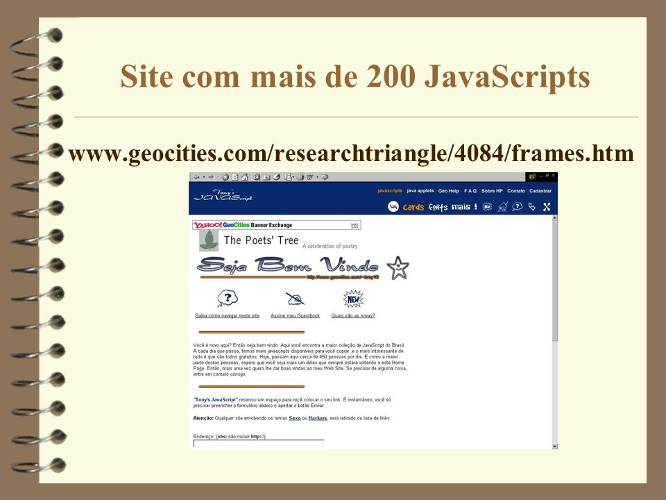 Site com mais de 200 JavaScripts