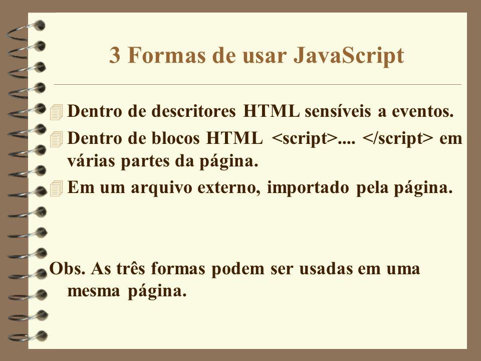 3 Formas de usar JavaScript