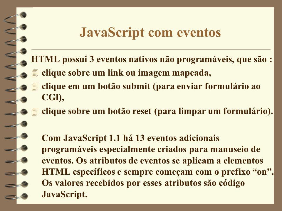 JavaScript com eventos