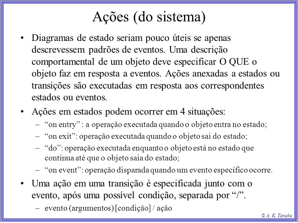 Ações (do sistema)