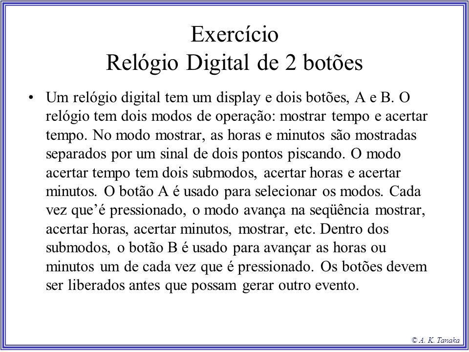 Exercício Relógio Digital de 2 botões