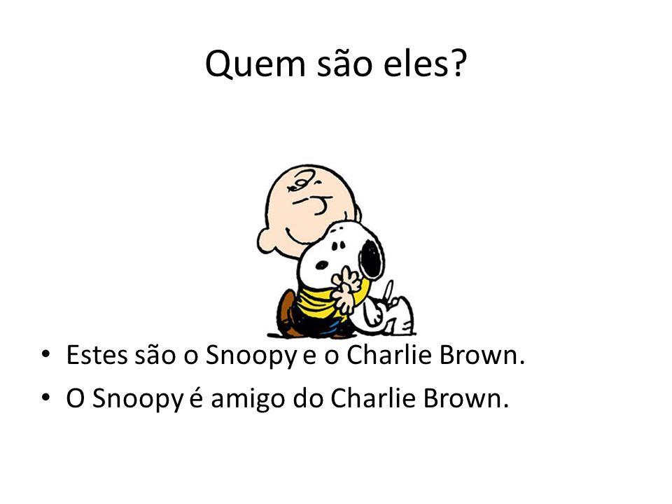 Quem são eles Estes são o Snoopy e o Charlie Brown.