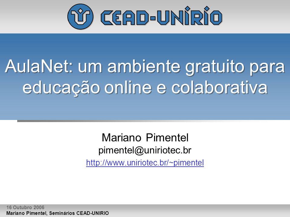 AulaNet: um ambiente gratuito para educação online e colaborativa