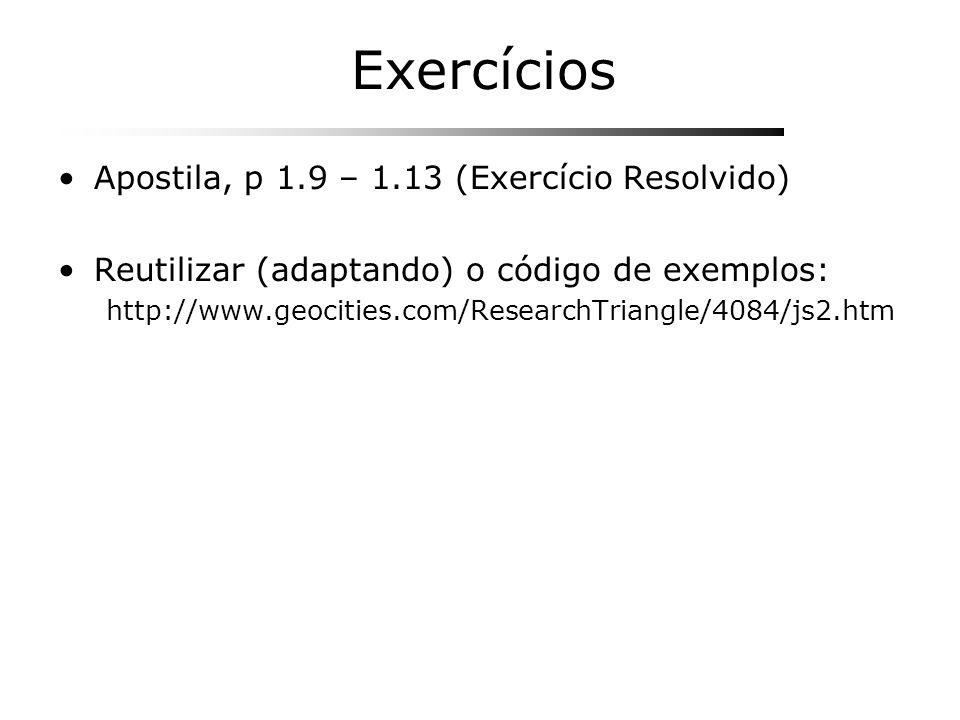 Exercícios Apostila, p 1.9 – 1.13 (Exercício Resolvido)