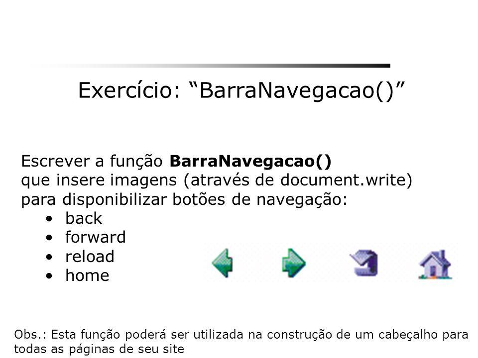 Exercício: BarraNavegacao()