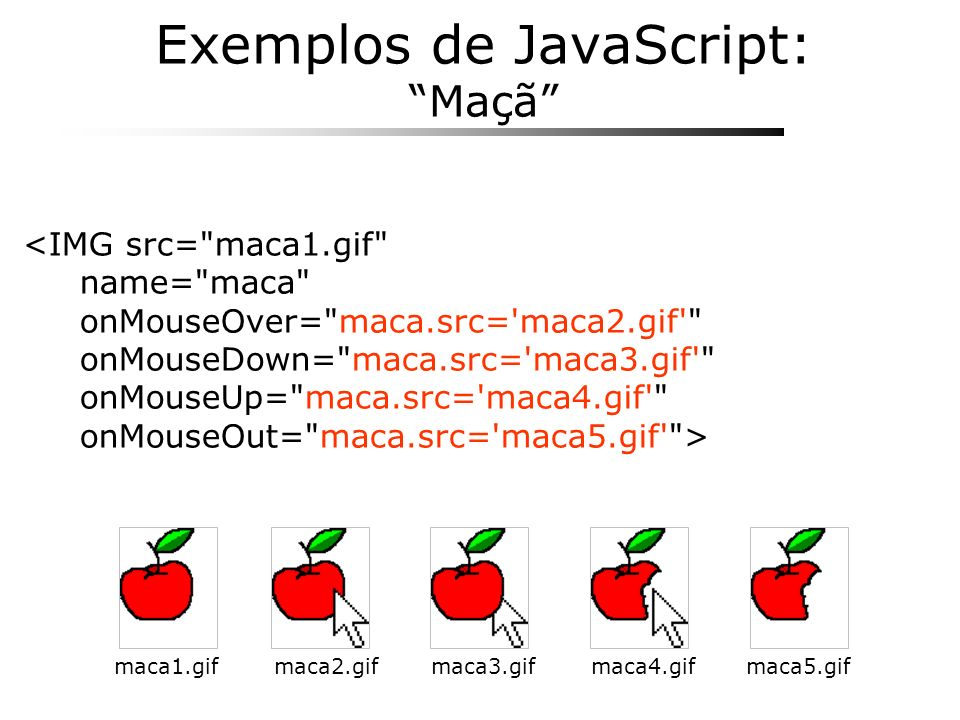 Exemplos de JavaScript: Maçã