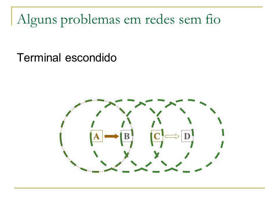 Alguns problemas em redes sem fio