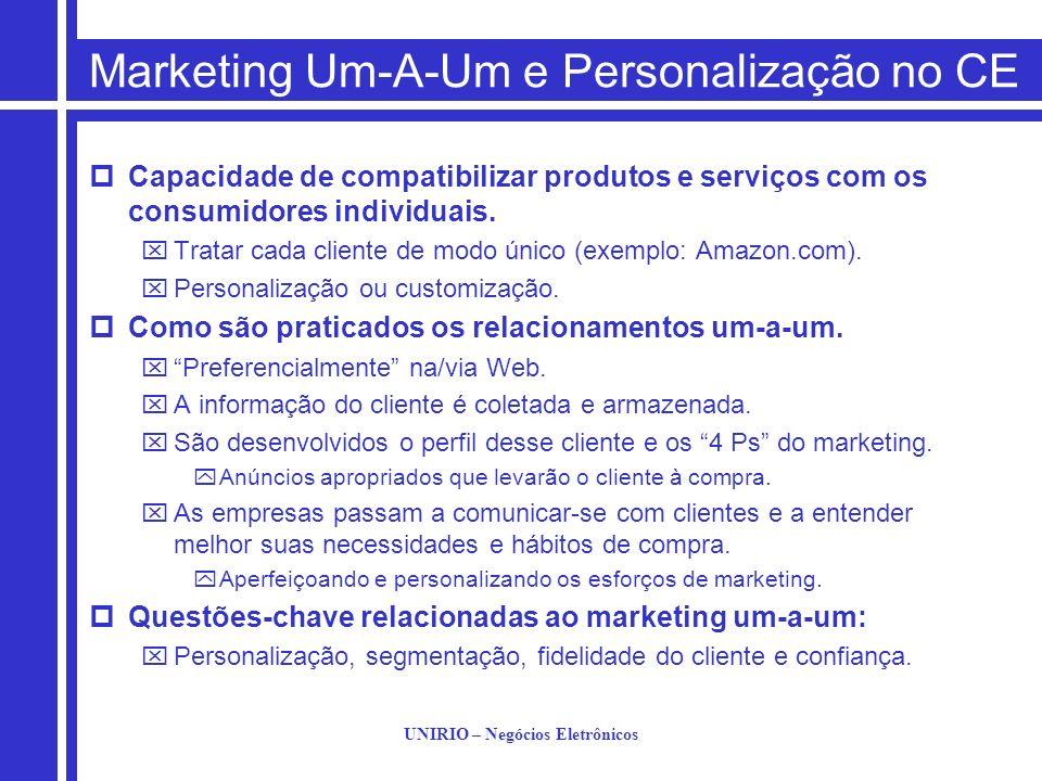 Marketing Um-A-Um e Personalização no CE