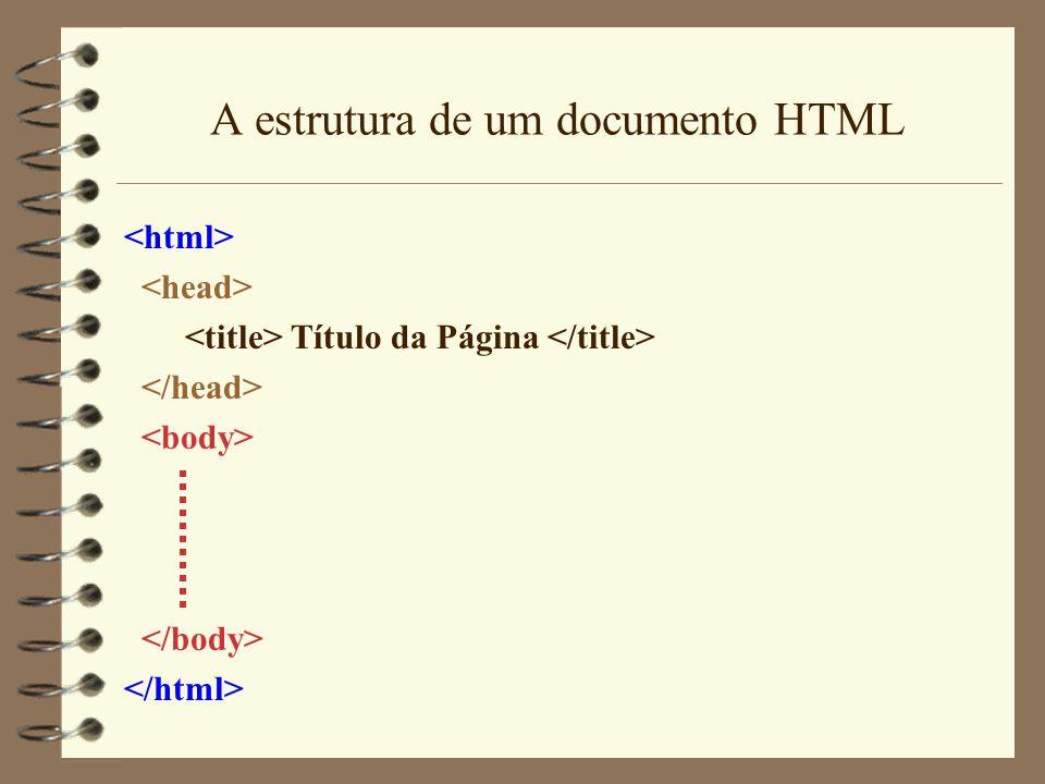 A estrutura de um documento HTML
