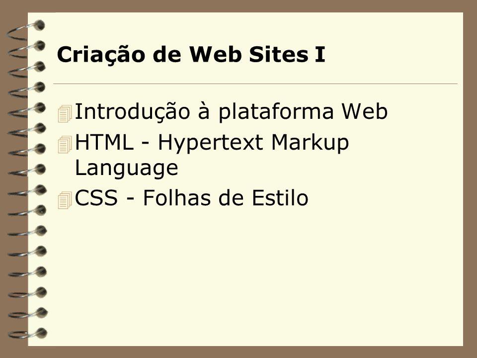 Criação de Web Sites I Introdução à plataforma Web.