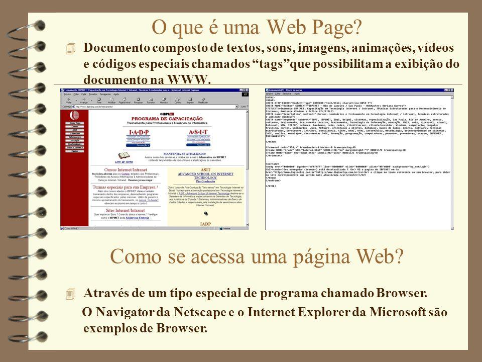 Como se acessa uma página Web